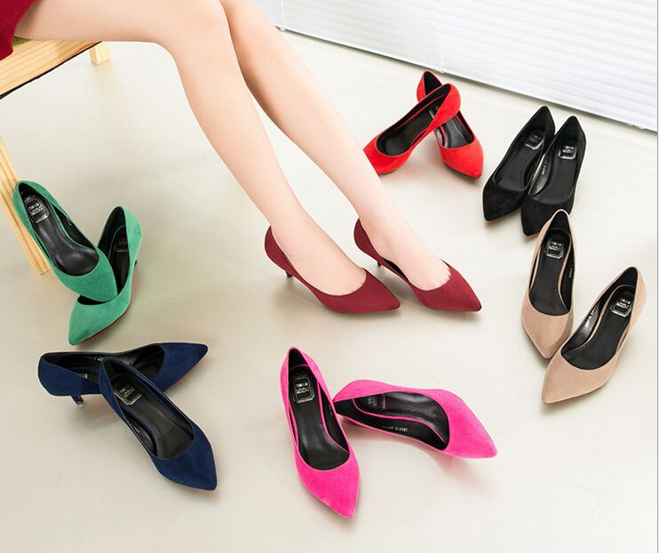 small big size 33-43new 2016 factory shoe women pointed toe bottom low heel pump lady single ol work career spring fall shoe new 2016 factory matte shoe women pointed toe red bottom low heel pump lady single ol work career spring fall shoes 678 2suede