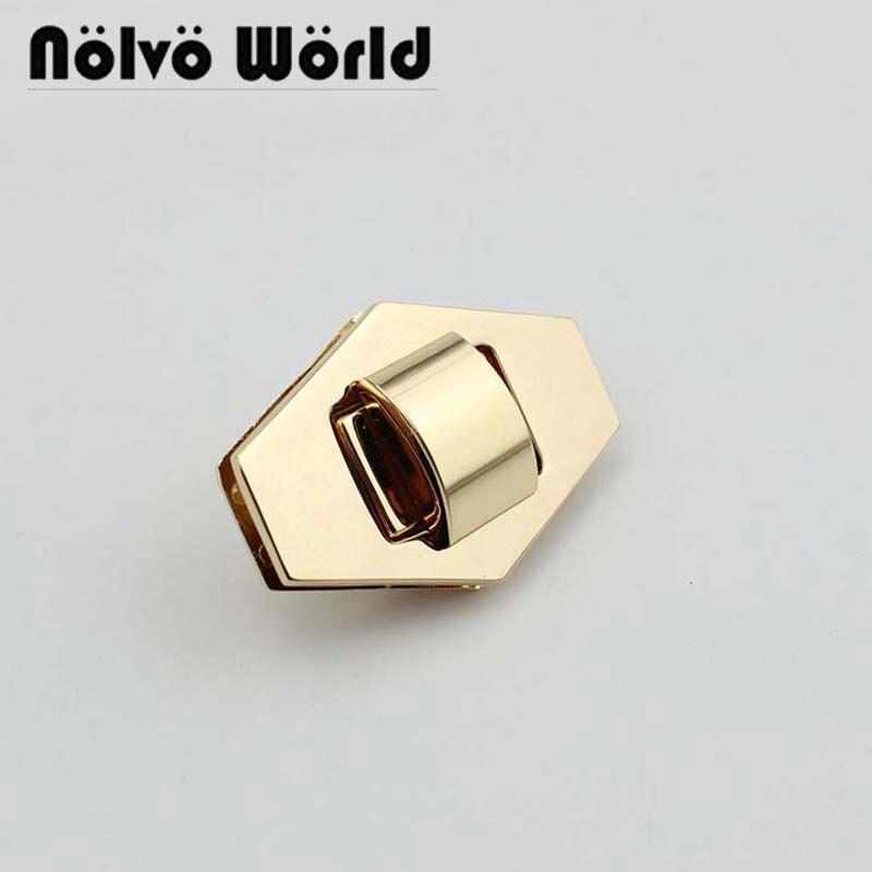 10 sets 55X39mm light gold silver new hexagon lock twist lock
