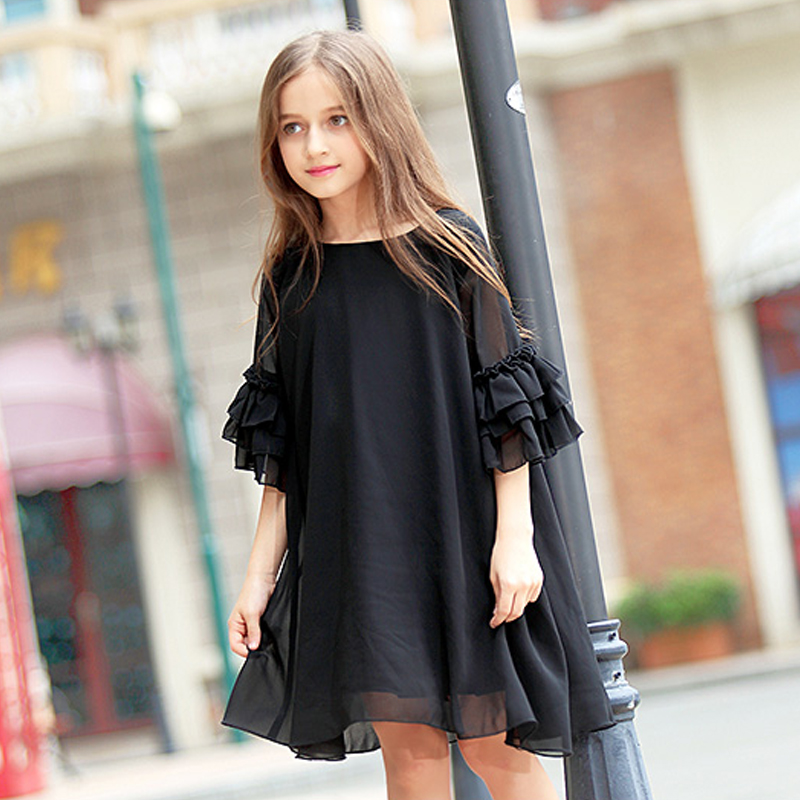 Image 3 - teenage girls clothing summer dress 2019 big girl clothes little girls chiffon dressees size 4 5 6 7 8 9 10 11 12 13 14 15 years-in Dresses from Mother & Kids