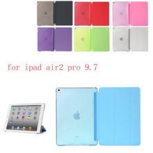 купить Case For iPad air2 pro 9.7 PU Leather Siamese shell Case For Flip Smart Cover  Auto Sleep/Wake Up For A1566`A1567`A1673`A1674 онлайн