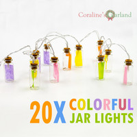 Novelty Glass Jar LED String Lights With 20 LED Lights Battery Operated For Wedding Party Fairy