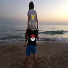 H1096 Pokemon Printed Short-Sleeved Couple T-Shirt