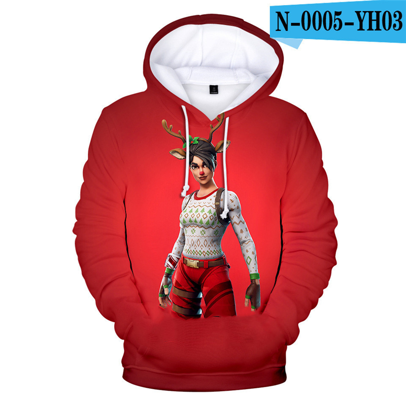 Fortnited Battle Royale Hoodie Game Moletons Battle Royale Battle Royale Clothings Fornit Women Clothing Men Kid Clothes Hooded