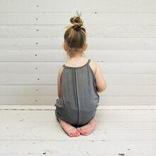 2017 New Summer Fashion Baby Girls Clothes Set One Piece Sleeveless Bodysuit