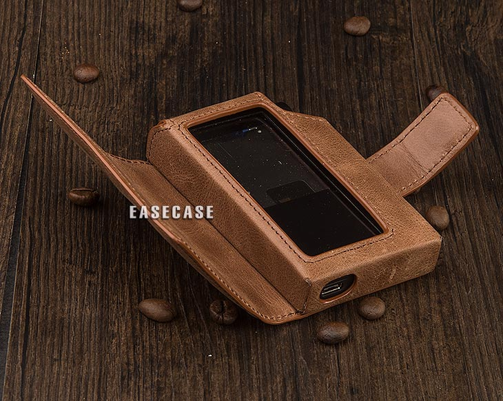Image 4 - E4 Custom Made Genuine Leather case for HIFIMAN R2R2000-in Phone Pouches from Cellphones & Telecommunications
