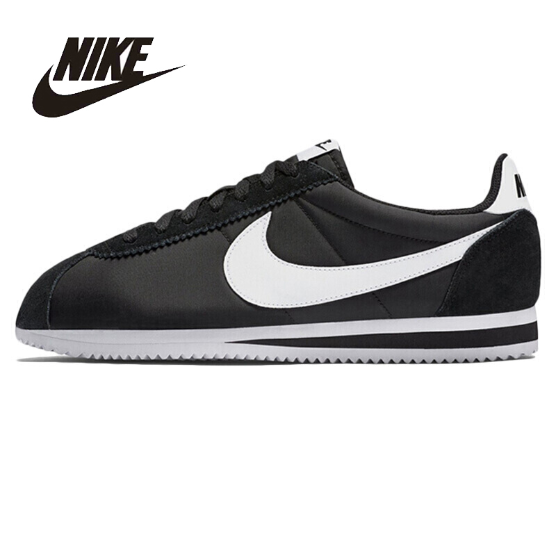 NIKE Original New Arrival Mens Skateboarding Shoes CLASSIC CORTEZ NYLON Breathable Stability  Comfortable For Men#807472-011 original nike classic cortez nylon men s skateboarding shoes 532487 sneakers free shipping