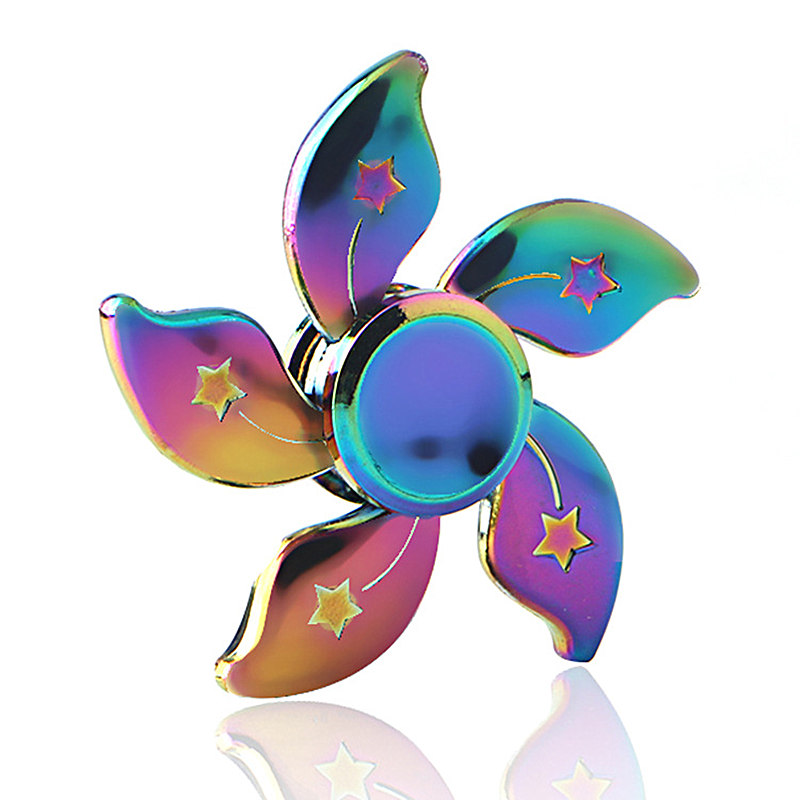 Purple Flower Colorful Fidget Spinner EDC Hand Spinners Autism ADHD Kids Christmas Gifts Metal Finger Toys Spinners