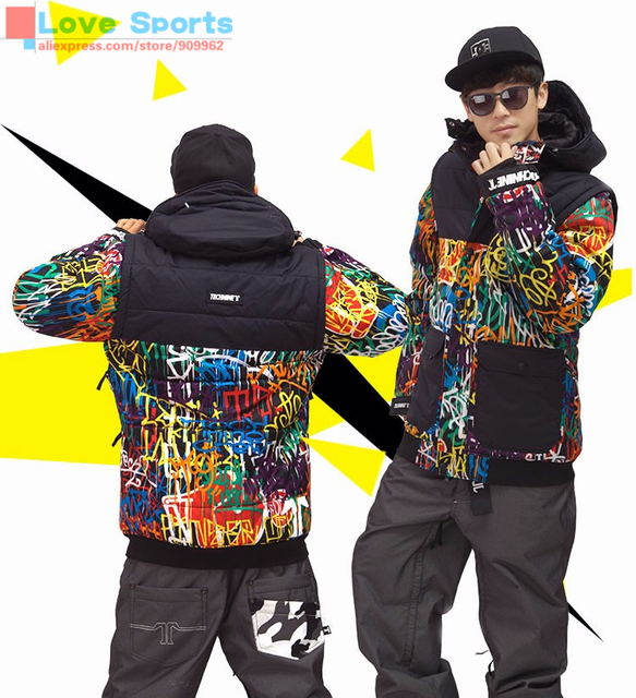 Cheap Newest High Quality Fashion Ski Jacket Cotton Padded Snowboard Clothes Outdoor Sport Waterproof Windproof Men Thicken Coat