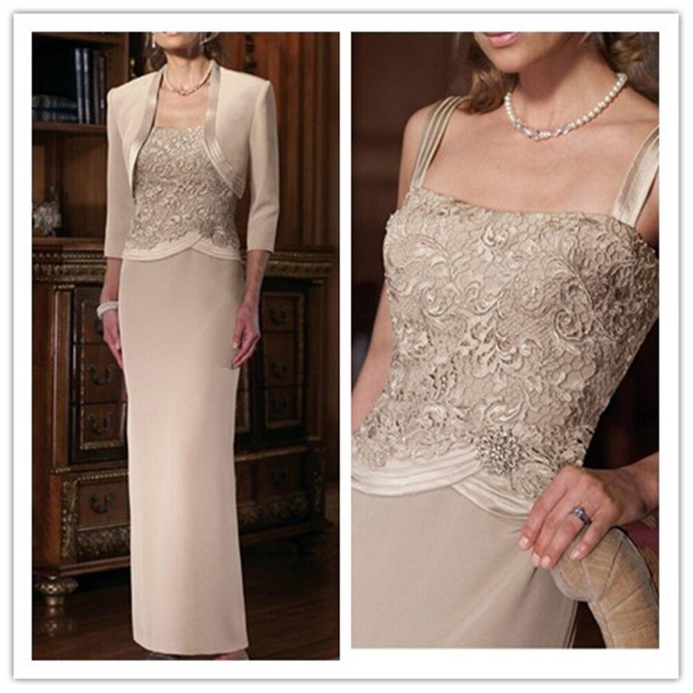 Robes formelles longue dentelle mère de la mariée robes avec veste mère de la mariée robes avec veste mère du marié - 4