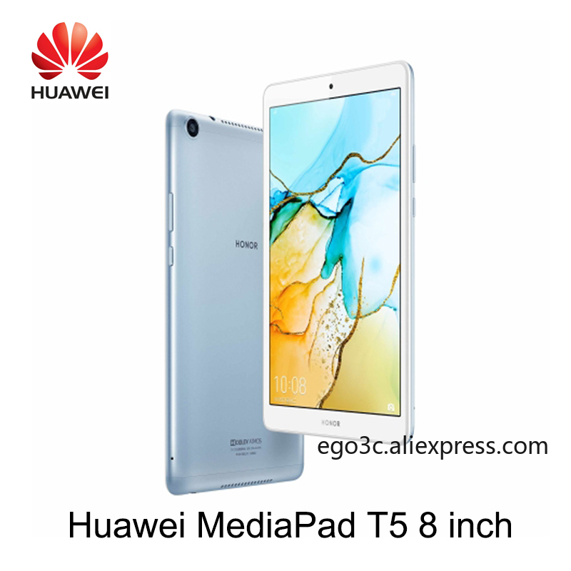 Original Huawei Mediapad T5 8 huawei honor T5 8 inch LTE/wifi 3G/4G 32G/64G  OTG GPS Charger Octa Core with Dual Cameras microSD