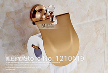 Недавно сша free доставка роскошные держатель для туалетной бумаги rose golden polished ткани рулон туалетной бумаги стойку с крышкой настенные