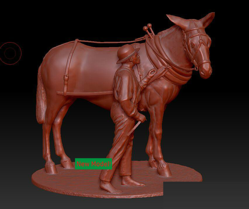 3D Model Stl Format, 3D Solid Model Rotation Sculpture For Cnc Machine Peasant And Home