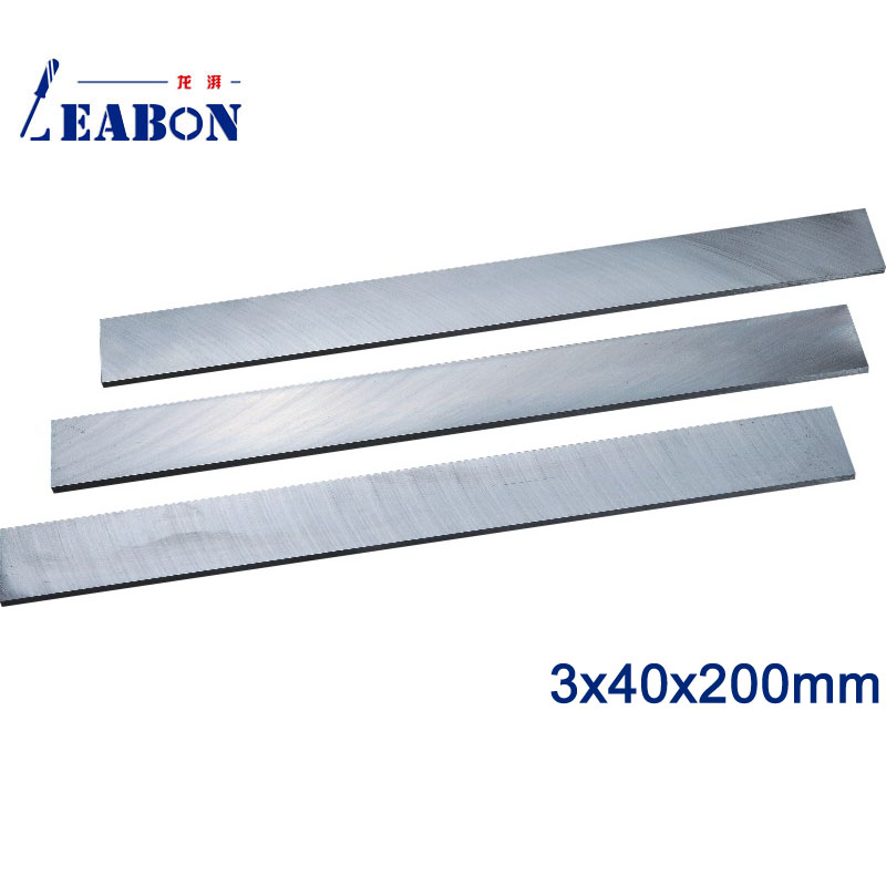 LEABON W6% HSS Flat Wood Planer Blades 3 X40x200mm Woodworking Power Tools Accessories  (A01010029)