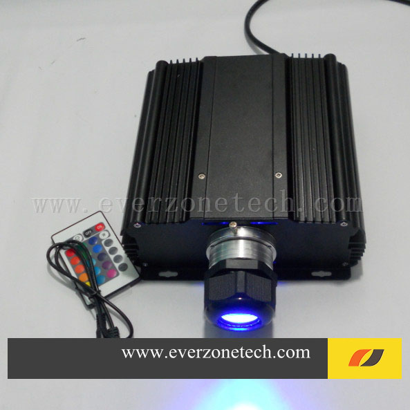 High Brightness 45w with IR LED light generator optic fiber with RGB colors fiber optic star ceiling light engine 12v 24v 7w mini round fiber optic led projector generator light engine