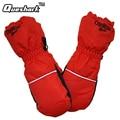 Children Winter Warm Ski Gloves Girls Waterproof Windproof Sport Cycling Mittens Extended Wrist Snow Snowboard Skiing Gloves