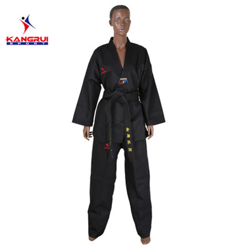 Poomsae Taekwondo Uniform kleurrijke rood blauw zwart coach dobok - Sportkleding en accessoires - Foto 2