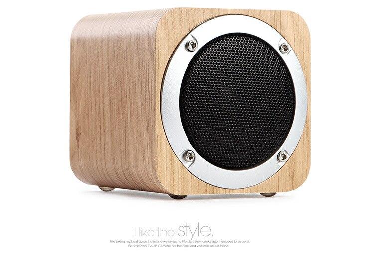 RÉTRO BOIS PORTABLE SANS FIL BLUETOOTH HAUT-PARLEUR DE BUREAU SUBWOOFER BLUETOOTH HAUT-PARLEUR AVEC FM RADIO/TF CARTE JOUER/AUX