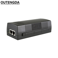 1000Mbps Gigabit Single Port 48 56V 30W Network PoE Injector Mode A 12+ 36 Endspan Power Over Ethernet with IEEE802.3at