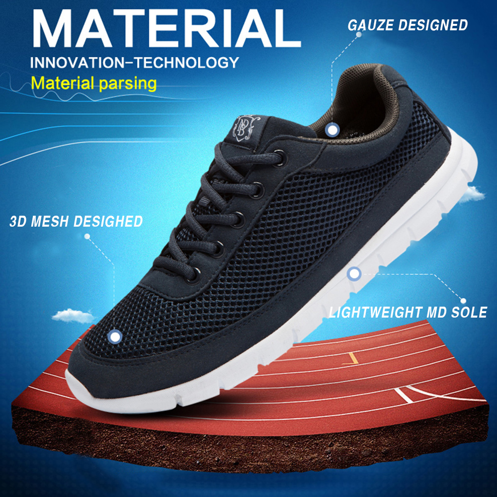 Brand Shoes Men Casual Breathable Lace-Up Walking Footwear - Men's Shoes - Photo 4