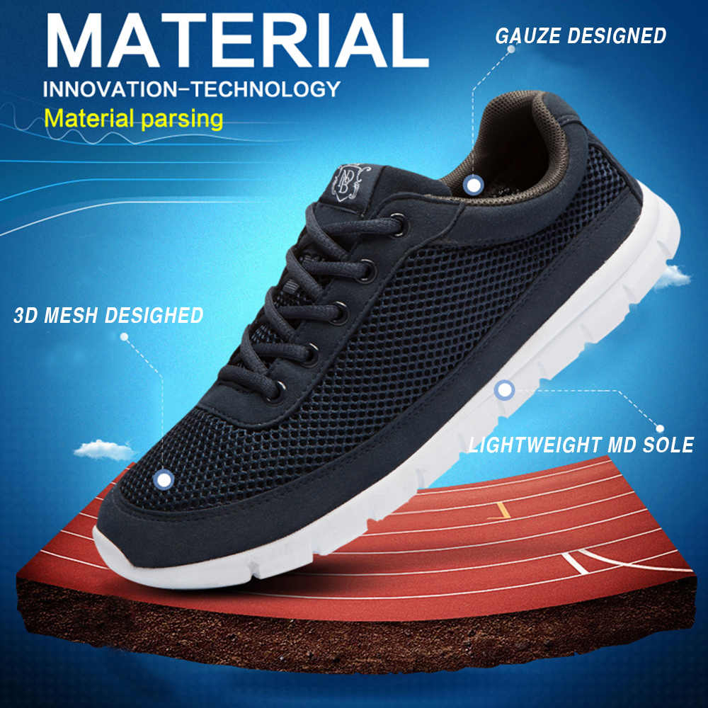 Marka ayakkabı erkekler nefes süper hafif erkekler rahat ayakkabılar büyük boy 49 50 Sneakers erkekler rahat yürüyüş zapatos de hombre