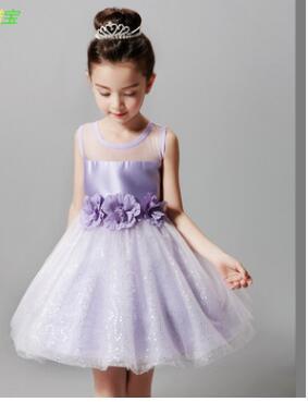 2017 hot Baby Girls Dress Brand Summer princess dress Girl Clothing Net yarn princess dress dress#L006