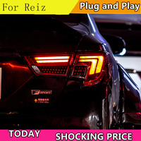 Car Styling for Toyota Reiz Taillight assembly 2013 2017 Mark X LED Tail Light Rear Lamp DRL+Brake+Park+Signal+Reversing light