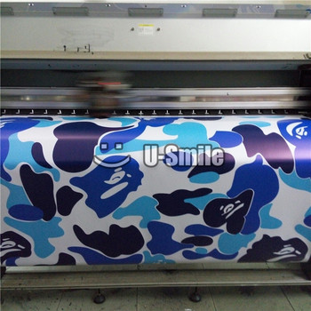 Camouflage Truck Wraps | Jumbo Baby Blue Camouflage Vinyl Wrap Urban Night Camo Vinyl Car Wrap Bubble Free For SUV TRUCK Jeep Wraps 30M/Roll