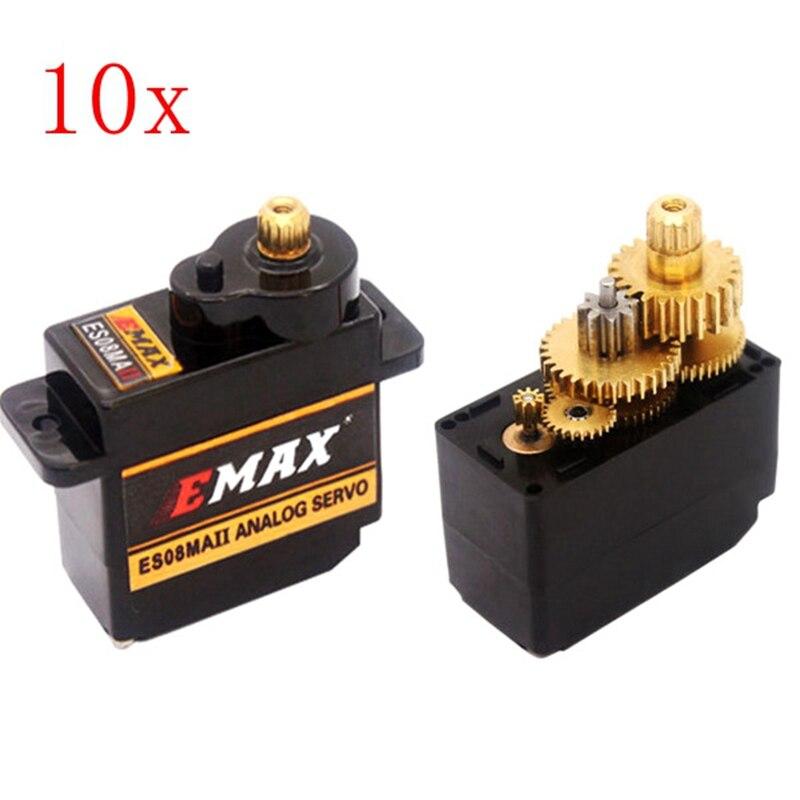 ФОТО 10PCS EMAX ES08MA II 12g Mini Metal Gear Analog Servo for RC Model