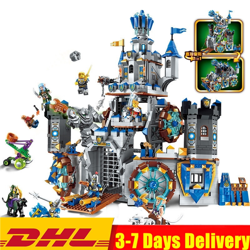 ENLIGHTEN The War Of Glory King Castle Knights Battle Bunker Building Blocks Set Model Kids Toys Gift Compatible Legoings Nexo