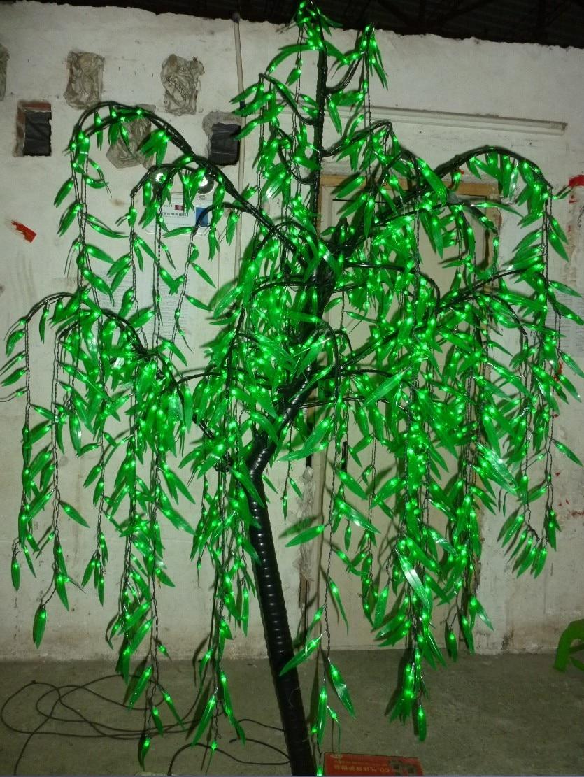 LED Willow Tree Light 1080pcs LEDs 2m/6.6FT Green Color Home Garden ...