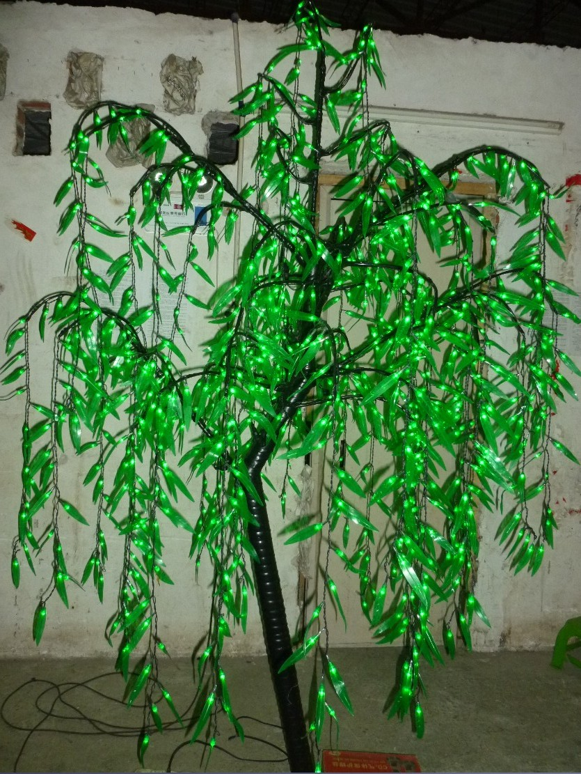 LED Willow Tree Light 1080pcs LEDs 2m/6.6FT Green Color Home Garden Deco Outdoor White Holiday Christmas new year party decor