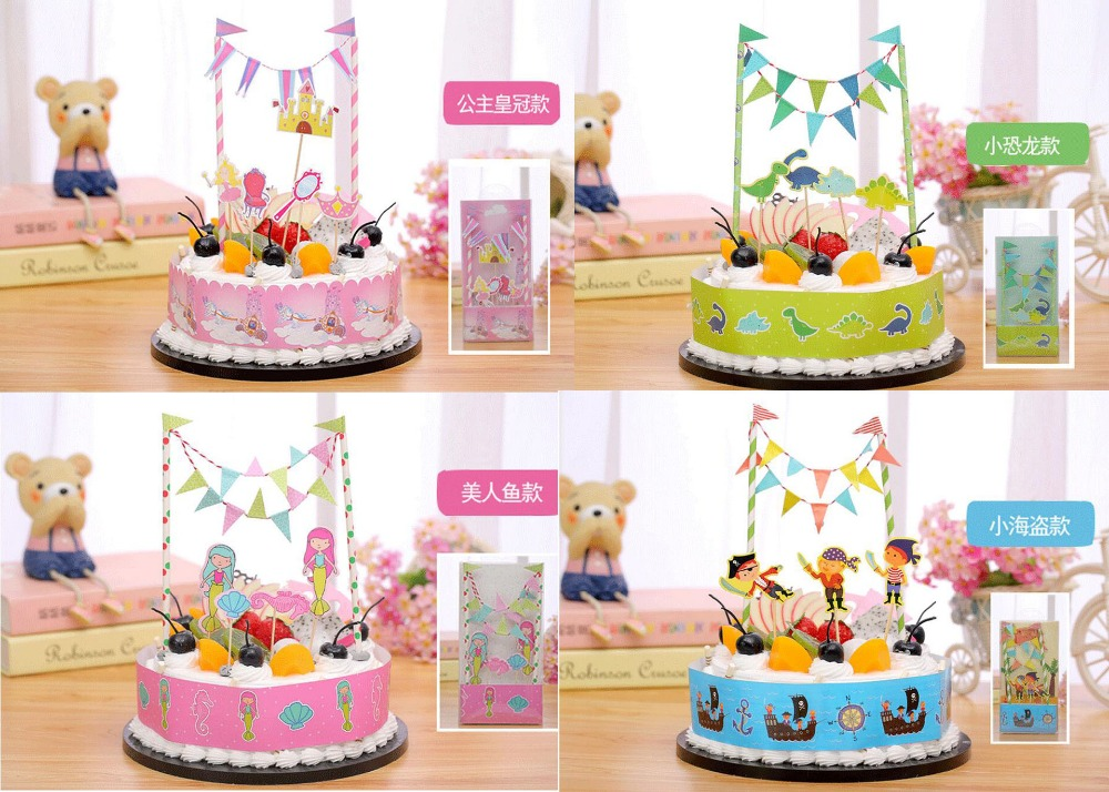 2017 2boxeslot Kids Creative Birthday Cake Table Decorations Cake