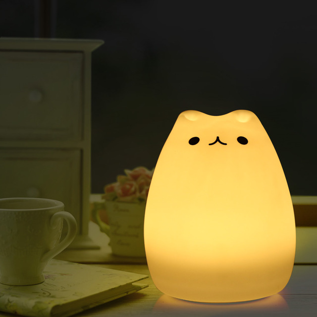 KITTEN LED SOFT NIGHT LAMP | Intelligent Touch Control | 7 Colors
