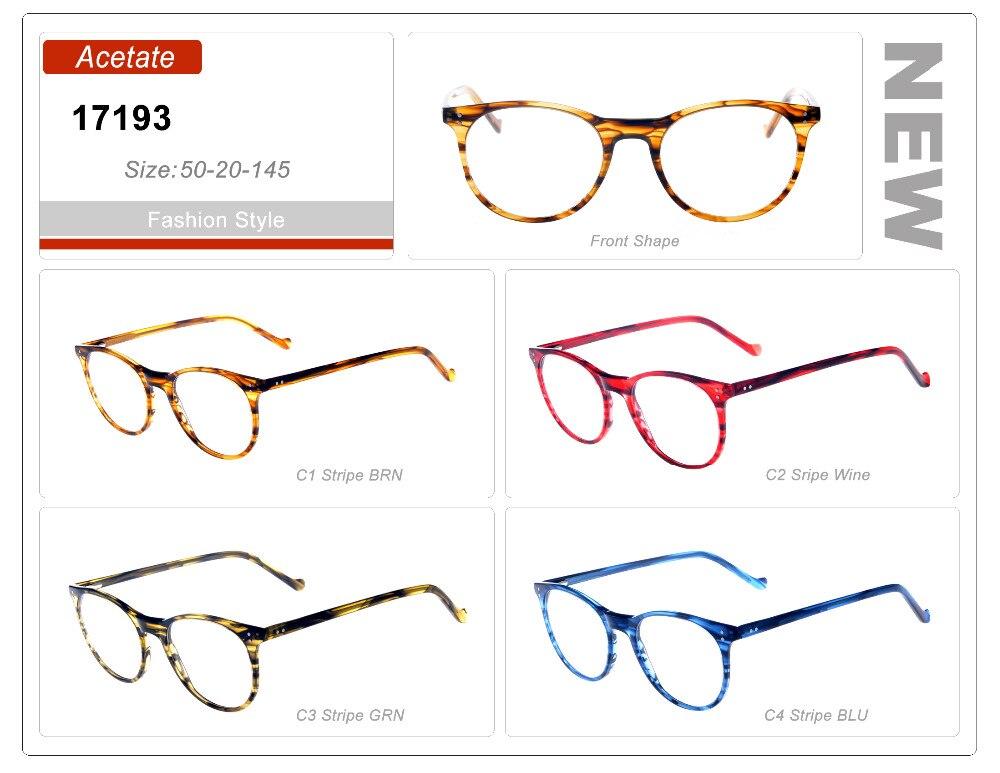 Augen wunder Großhandel dame Runde Optischen Rahmen Vintage Brillen Rahmen  Retro Blau Gestreiften d3307b0cb6