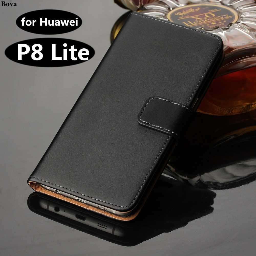 Premium Leather Flip Cover Huawei P8 Lite Luxury Wallet case For Huawei Ascend P8 Lite 5.0