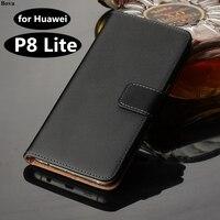 Premium In Pelle Della Copertura di Vibrazione Huawei P8 Lite cassa Del Raccoglitore di Lusso Per Huawei Ascend P8 Lite 5.0