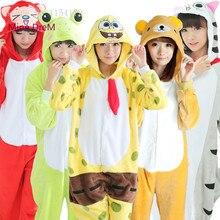 Купить с кэшбэком Kigurumi Animal onesies Pajamas Cartoon costume cosplay Pyjamas Adult  Animal  Onesies  party dress  Halloween pijamas