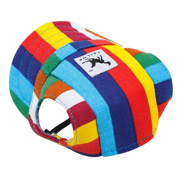 db2bb689924 Dog Hat With Ear Holes Summer Canvas Baseball Cap For Small Pet Dog Outdoor  Accessories Hiking Pet Products 10 Styles-in Dog Caps from Home   Garden on  ...