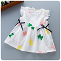 Korean 2016 Summer Wear New Pattern Girl Children's Garment Butterfly Embroidery Girl Baby Feifei Sleeve Fold Jacket Skirt