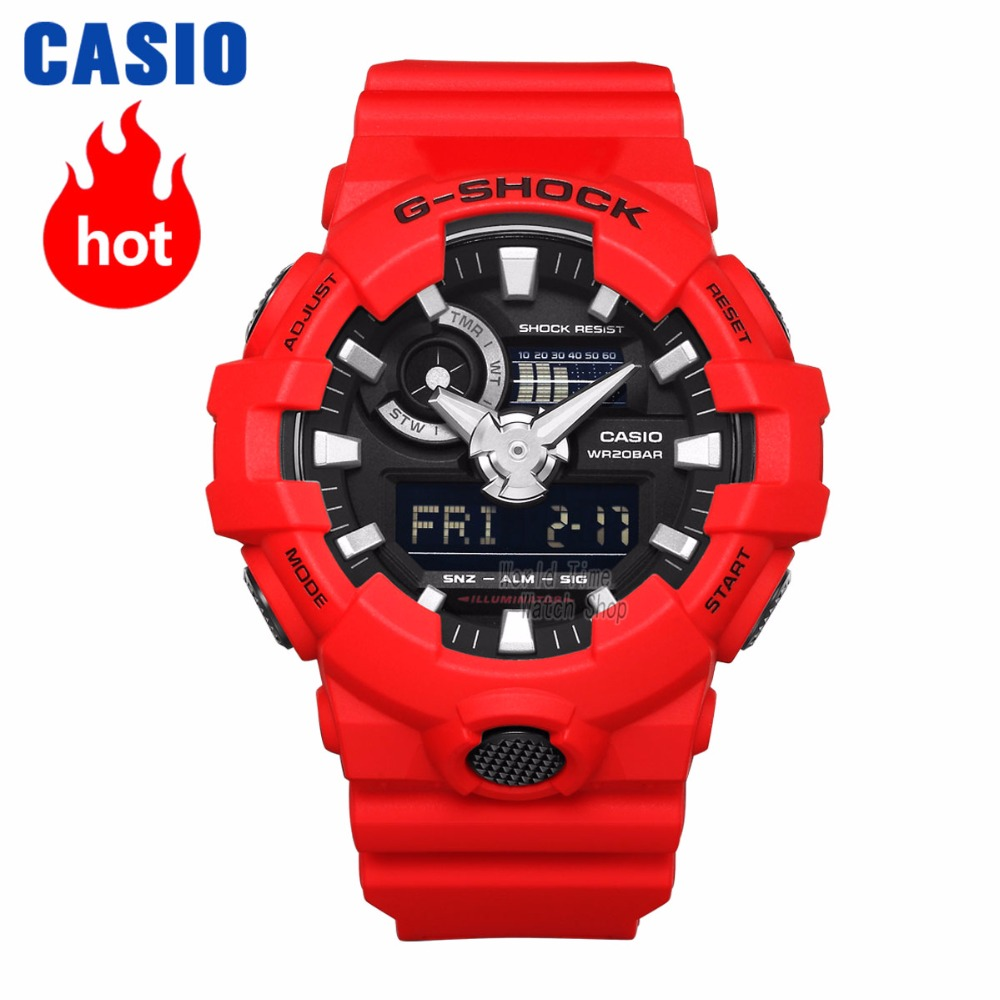 614fac77259 Montre Casio G SHOCK montre de sport à Quartz pour hommes Cool bracelet en  résine confortable étanche g montre choc GA 700 dans Montres de sport de  Montres ...