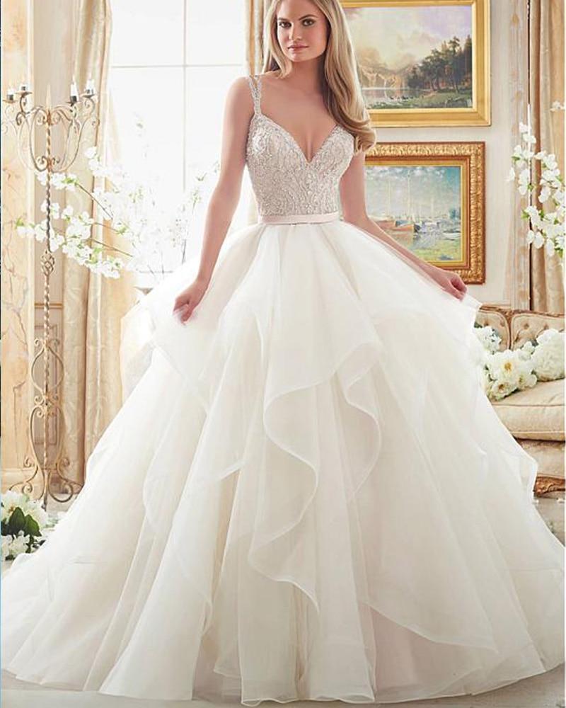 V Neck Wedding Gown: Aliexpress.com : Buy Joky Quaon 2017 Sexy Deep V Neck