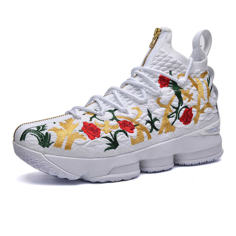 dcdab6006998 2018 New XV 15 Equality BHM Graffiti Mens Basketball Shoes Designer Fabric  Surface Electric Embroidery Pattern