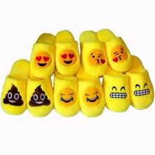 Крытый Теплый Emoji Тапочки милые тапочки дома Смайлик Смайлик женщин мужские zapatillas де andar por casa нечеткие тапочки kapcie