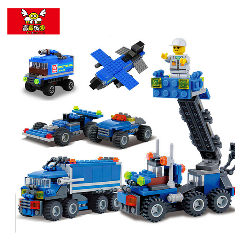 best selling 163pcs model building block kits transport dumper truck building blocks 8 shapes diy brand