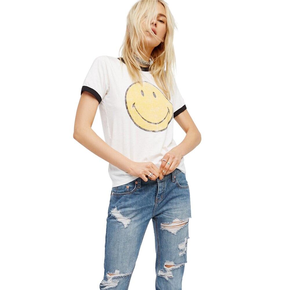 Vogue printing T Shirt Women Feminist Funny Friends Harajuku Vegan Tumblr BTS Vintage Cute Smiley White Tops Plus Size Clothing