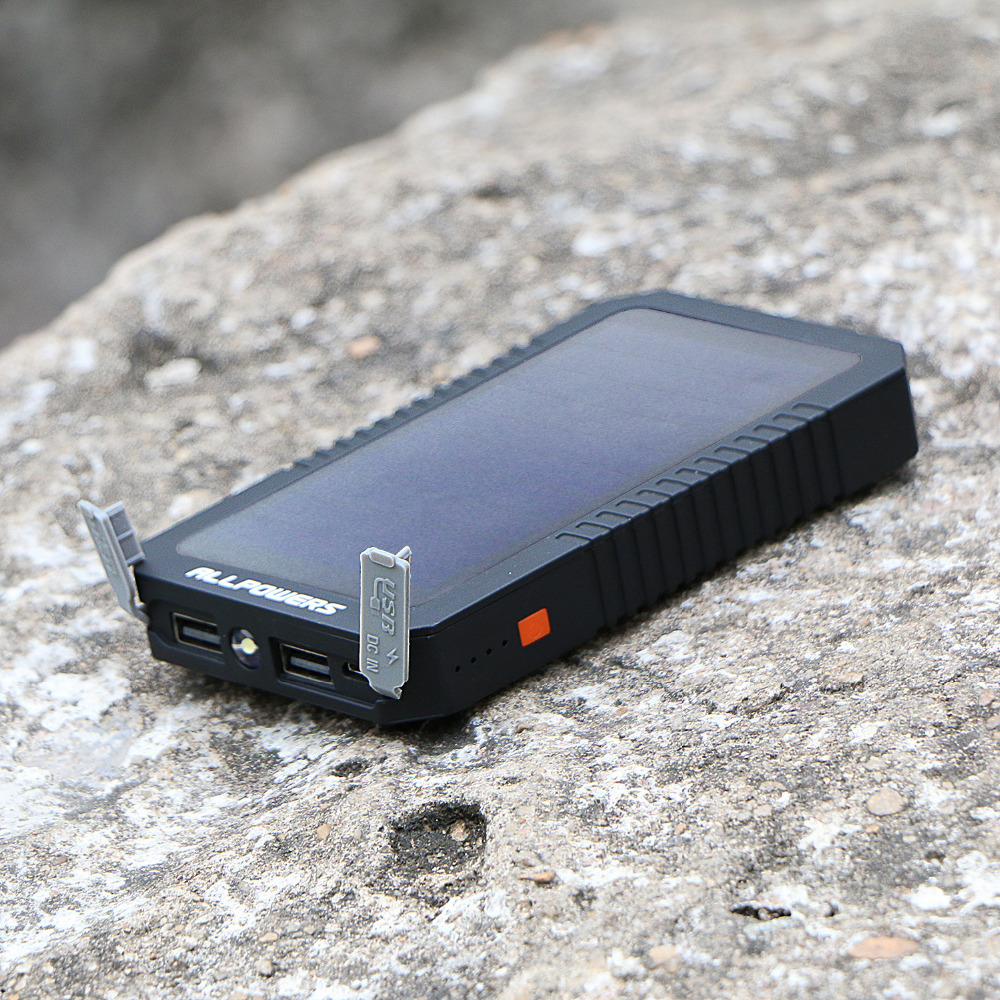 ALLPOWERS 12000mah Solar Power Bank sunpowers solar charger external battery pack for all mobile phones