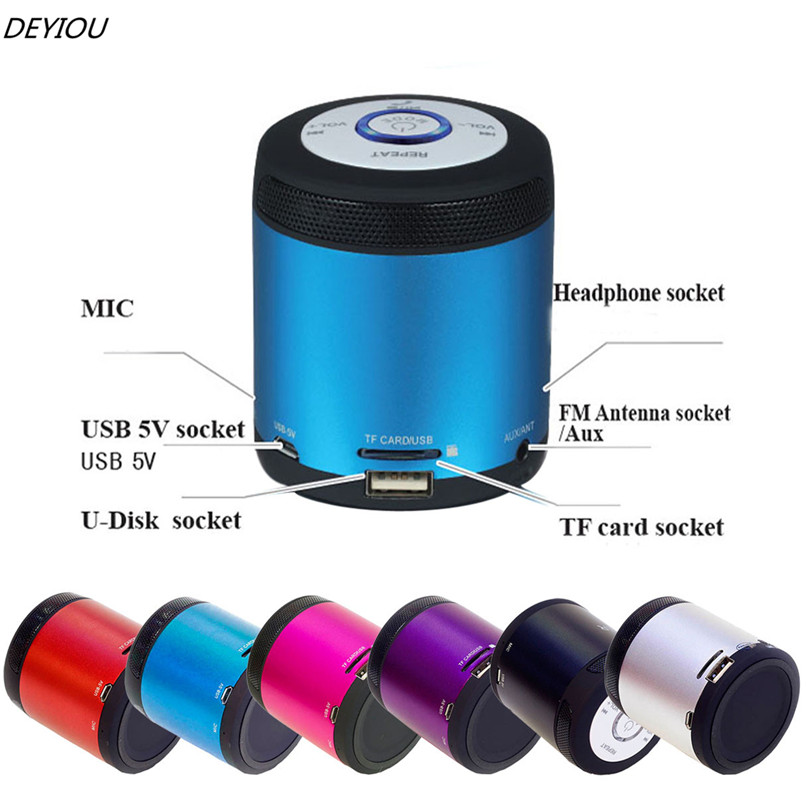 DEYIOU Best Price!!!Portable Wireless Bluetooth Stereo FM Speaker For Smartphone Tablet Laptop Free Shipping NOM16