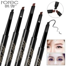 ROREC Multifunction Automatic 3 Color Eyebrow Pen for Long Lasting Waterproof beauty Pencil With Makeup Brush