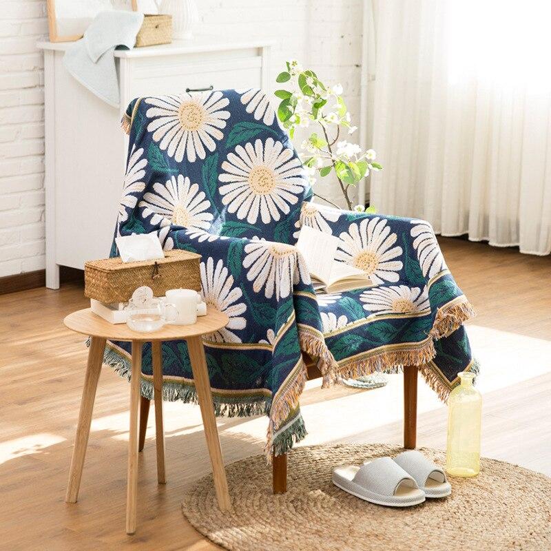 Mandala Tassel Tapestry Blanket Carpet Wall Hanging Cotton Decorative Mat for Beds Sofa Chair Vintage Towel Home Decor