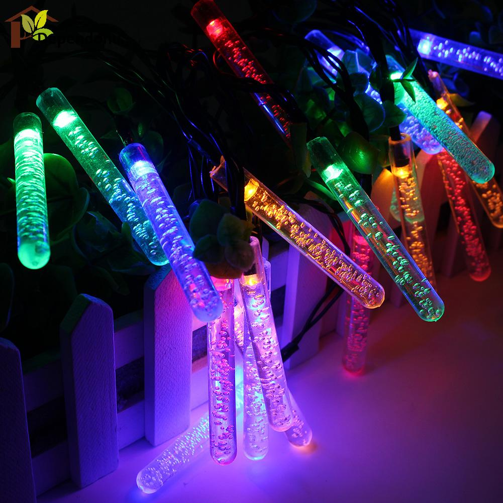 3.5 M 20 leds Ice Piton Shape LED Solar Garden String Lights Christmas Xmas Party Decorations Waterproof Solar Powered LED Lamp